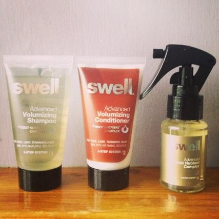 Swell shampoo, conditioner  & treatment spray.