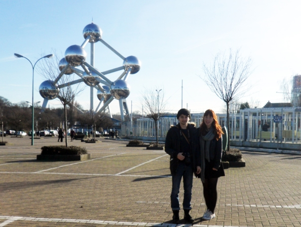 Me and Dec at the Atomium, Brussels.